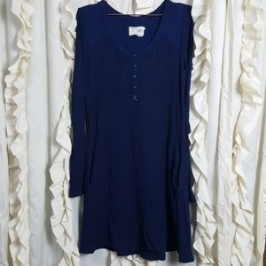 Saturday Sunday navy thermal long sleeve dress